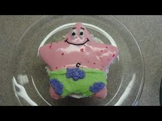 Decorating Cupcakes #61:  Patrick from Spongebob