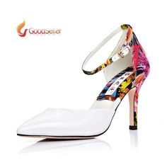Find More Pumps Information about Brand Design ! Summer Fashion Women's High Heels Genuine Leather Printing Pumps Thin Heel Pointed Toe Women Shoes,High Quality shoe printing machine,China shoes baseball Suppliers, Cheap shoes vietnam from Good-seller on Aliexpress.com