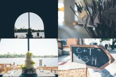 Ave Norturna Photography- ruffled wedding cake, sparklers and chalkboard signs...all keys to the perfect wedding day
