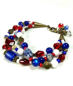 Check out this item in my Etsy shop https://www.etsy.com/listing/519854680/patriotic-bracelet-red-white-blue