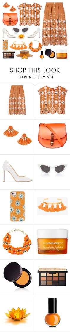 """Senza titolo #7593"" by waikiki24 ❤ liked on Polyvore featuring Miguelina, Topshop, N'Damus, Jimmy Choo, Yves Saint Laurent, Casetify, Marte Frisnes, Amrita Singh, Ole Henriksen and Laura Mercier"