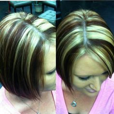 """Red hair with blonde highlights - don't want this at all, this is just my """"no stripes"""" pic for my stylist."""