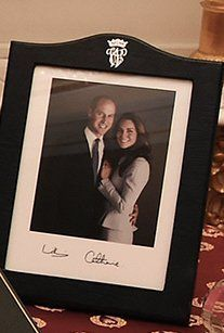 A new photo of William and Kate that was part of the gifts exchanged during the royal tour to Norway