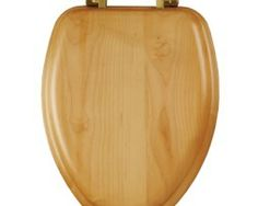 Bemis Wood Finish Enlongated Toilet Seat  Product Description The Classic oak veneer finish has no splitting or cracking, it has  easy to install-dial on hinges for secure no-wobble fit, Non-tarnish style chrome hinges complement today's bath hardware, and lastly fits all manufacturers' elongated bowls.