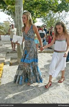 Kate Moss - The Wedding of Charlotte Tilbury in Ibiza Spain