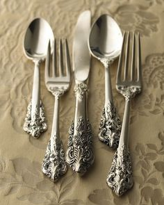 Baroque Silverware in the ornate style that is, Baroque.