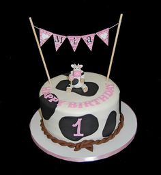 1st birthday cow and western themed cake by Simply Sweets, via Flickr