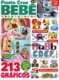 Revistas de manualidades Gratis: Punto de Cruz para bebes