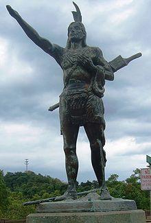 Statue of Mingo, Greetings to Wayfarers, in Wheeling, West Virginia.