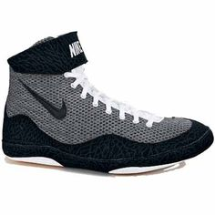 11b340542f6 Grey and Black Nike Inflict wrestling shoes. Grey and Black go with any  team color