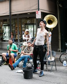 Step outside our doors and find some sweet New Orleans brass. #NOLA #HotelMonteleone