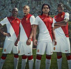 Nice Day Sports: New AS Monaco Home Soccer Jersey Football Kit / Ha...