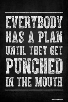 Everybody Has A Plan Until They Get Punched In The Mouth Poster
