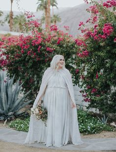 Plus size bride in Odylyn the Ceremony dress with cape