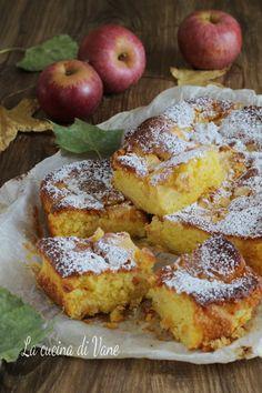 TORTA DI MELE CASERECCIA Apple Recipes, Low Carb Recipes, Sweet Recipes, Cake Recipes, Dessert Recipes, Sweet Desserts, Vegan Desserts, Cake Cookies, Cupcake Cakes