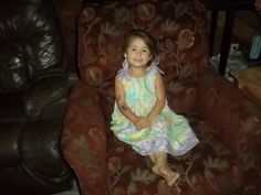 My Grand Daughter in her Summer Butterfly Dress