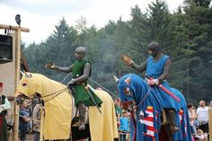 german knights from the reenactment group,Deustche ritterconvent. Awesome clothing. XIII th century