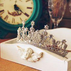 Bridal Tiara Royal Wedding Princess Style by loveandvalentine