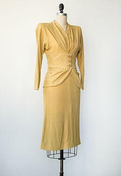 vintage 1940s yellow suit