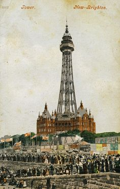 England - Tower, New-Brighton, Merseyside; postmarked 1903