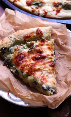Spinach and Artichoke Pizza