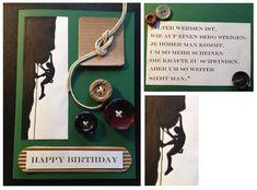 Geburtstagskarte Klettern. Birthday Card Climbing
