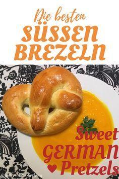 Rezept für leckere süße Brezeln / Martinsbrezeln mit wenig Zucker! Recipe for sweet german pretzels!