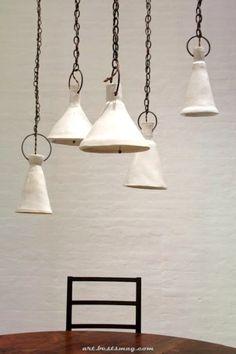 Natalie Garçon Ceramic Lamp by Way of BDDW Féerique Met zilveren sleutelhangerrri. Ceramic Light, Ceramic Pendant, Ceramic Art, Ceramic Lamps, Vintage Ceramic, Raku Pottery, Deco Design, Küchen Design, Chair Design