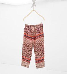 Image 3 of Flowing trousers with pattern from Zara Zara Kids, Harem Pants, Trousers, Pajama Pants, Fashion Kids, Girls Blouse, Shirt Blouses, Shirts, Zara United States