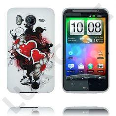 Symphony (Dual Blomst og Hjerte) HTC Desire HD Deksel