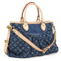 Louis Vuitton Monogram Denim Canvas Neo Cabby MM Blue Handbag M95349