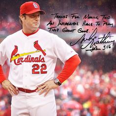 """Thanks for making this an incredible place to play this great game."" – Mike Matheny"