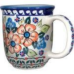 Polish Pottery 12oz Mug - Unique Design # A13 Polish Pottery Mugs - Pottery, WIZA - By Ceramika Artystyczna WIZA - 644527059150 at Polart - PolandByMail