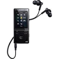 This Sony 8 gb walkman lets you bring your entire music collection with you while getting your daily miles. Sony, Running Routine, Voice Recorder, Cool Tech, Noise Cancelling, Radios, Mp3 Player, Things That Bounce, Improve Yourself
