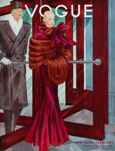 Vogue Art Deco Magazine Cover ~ by George Lepape, October 1933