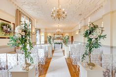 Aisle style in our Crystal Suite.