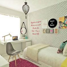 Uma proposta para quem mora de aluguel, quarto de adolescente alegre e aconchegante!!! #OBRAEESTILO