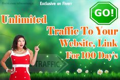 I will unlimited website traffic 100 days for $5  Hey there, my name is Suranga and I'm a quality E-marketer & web designer since 2008  I will deliver unlimited traffic to your website, link in 100 days.  80-150 Visitor daily Guaranteed    Visit  https://www.fiverr.com/mbasuranga/unlimited-website-traffic-100-days