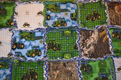 Boy John Deere & Camo Rag Quilt Blanket by SimplyCountryCrafts, $48.50