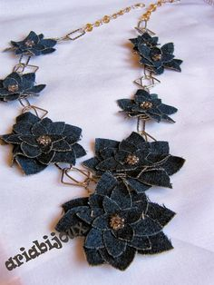 ARiabijoux: DENIM FLOWERS
