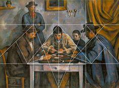 rocbo : Geometrie des peintres, Paul Cézanne, les joueurs de cartes