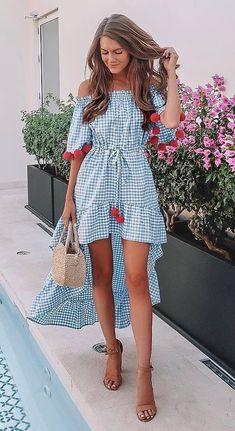 stylish look | bag + nude sandals + plaid dress