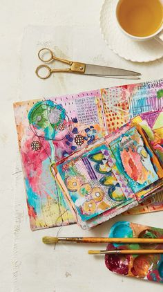 It's an Art Journal Jam in our May/June Issue! - Cloth Paper Scissors - - I can't wait to tell you about our new May/June 2018 issue of Cloth Paper Scissors magazine, which features incredible art journal projects, plus a lot more. Art Journal Pages, Art Journaling, Art Journal Backgrounds, Artist Journal, Junk Journal, Kunstjournal Inspiration, Art Journal Inspiration, Journal Ideas, Photography Kids