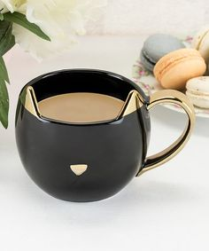 Black Cat Mug #zulily #zulilyfinds