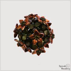 Spirala beading: Smaug´s Treasure Beaded Bead- link to free pattern. #Seed #Bead #Tutorials