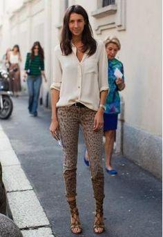 Géraldine Saglio / Current Elliot Cheetah Print Skinny Jeans