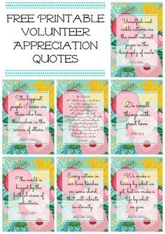 Free Floral Printables for Volunteer or Teacher Appreciation