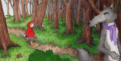 Little Red Riding Hood - Hannah McCaffery #littleredridinghood #fairytale #childrensbook #illustration #hannahmccaffery