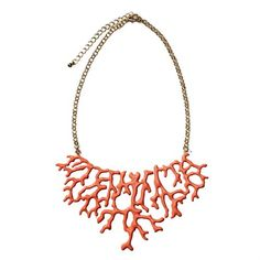 Couture Couture Boutique coral-inspired enamel-style statement necklace | Photo by Ryan Kurtz