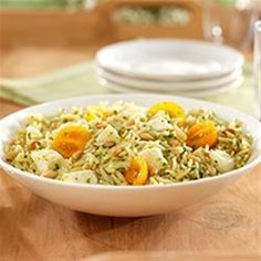 This colorful orzo pasta salad with fresh mozzarella cheese is ready to serve in less than 30 minutes.